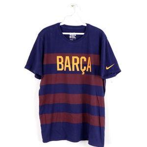 Nike FC Barcelona Barca Striped Soccer T Shirt